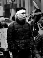 At the Free Tibet demonstration, December 2012
