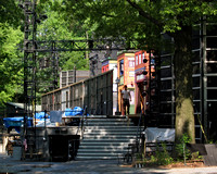 Backstage at the Delacorte Theater, Central Park