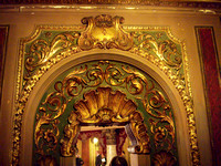 Ornamented mirror detail, Loew's Jersey Theater