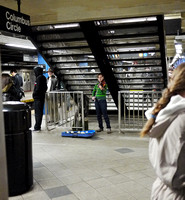 Busker, Columbus Circle station