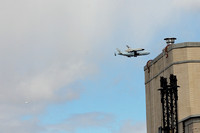 Space Shuttle flyby, seen from the Garment District