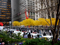 Occupy Wall Street (11/15): Autumn color at Liberty Plaza