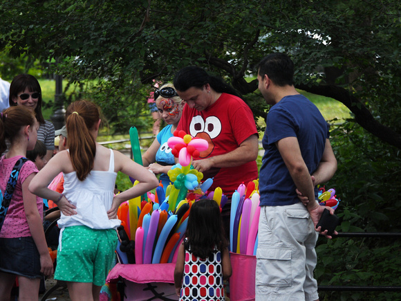 Balloon animal makers, outside the Central Park Zoo
