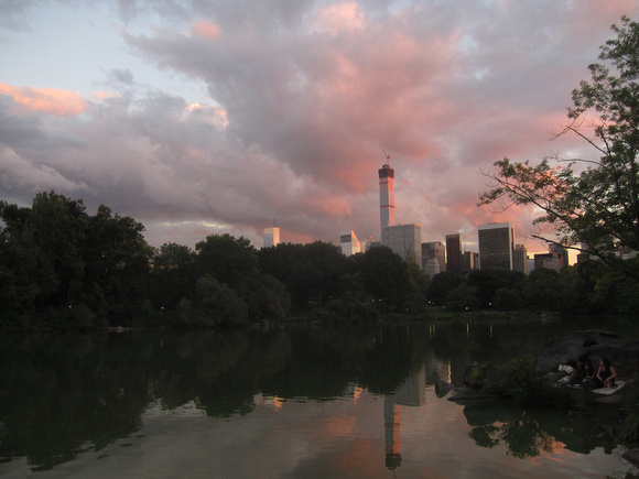Ed Gaillard: recent &emdash; Central Park Lake from Hernshead